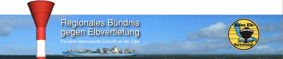 Regionales Bündnis gegen Elbvertiefung | Für eine lebenswerte Zukunft an der Elbe